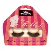 Miss Flicklash Long Party Style Black False Eyelashes & Gold Eyeliner Flick