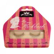 Miss Flicklash Natural Style Black False Eyelashes & Gold Eyeliner Flick