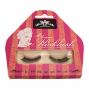 Miss Flicklash Subtle Short Style Black False Eyelashes & Gold Eyeliner Flick