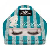 Miss Flicklash Subtle Short Style Black False Eyelashes & Silver Eyeliner Flick