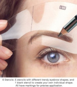 Eyebrow Stencil 5 shapes stencils from Tana Cosmetics