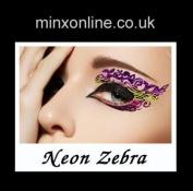 Ninxae Eye Transfers - Neon Zebra - Last Up To 16 Hours