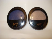 2 x No7 Stay Perfect Eye Shadow from Boots Colour Midnight Blue 20 + 60 Mink