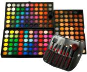 Micro Trader 180 Full Colour Pro Eyeshadow Palette Make Up Kit+7 Pcs Cosmetic Brush