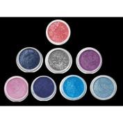 "ITAY Beauty Mineral Makeup 8 Singles Eye Shimmer Shadows ""Best 4 blue eyes "" +Free Gift A-viva Pink Nail Kit"
