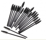 EOZY Pack of 50pcs Disposable Eyelash Mini Brush Set Mascara Wands Applicator Spoolers Makeup
