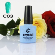 ICE BEAUTY NAIL CRYSTAL UV LED GEL AQUA GREEN C03 IBN