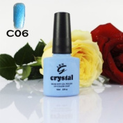ICE BEAUTY NAIL CRYSTAL UV LED GEL BABY BLUE C 06 IBN 10ml
