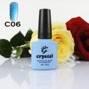 ICE BEAUTY NAIL CRYSTAL UV LED GEL BABY BLUE C 06 IBN 10ml