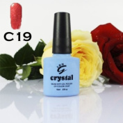 ICE BEAUTY NAIL CRYSTAL UV LED GEL FLAME RED C19 IBN 10ml