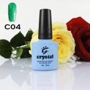 ICE BEAUTY NAIL CRYSTAL UV LED GEL FUR GREEN C04 IBN 10ml