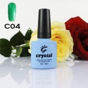 ICE BEAUTY NAIL CRYSTAL UV LED GEL FUR GREEN C04 IBN 10ml