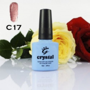 ICE BEAUTY NAIL CRYSTAL UV LED GEL MOCHA BROWN C17 IBN 10ml