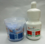 SETS OF TRUZONE CREAM PEROXIDE 9% (30 VOL) 1000ML & RAPID BLUE HAIR BLEACH 500GM