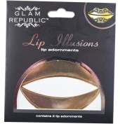 Glam Republic Lip Illusion Lip Appliques Baroque Metallic Gold Pack of 2