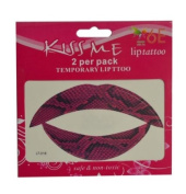 6E Lip Tattoo Abstract 2 x Pack of 2