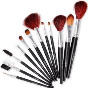 Fraulein3 8 12pcs Cosmetic Makeup Brush Set w/ Case New