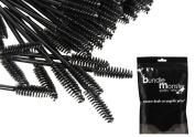 B.M.C 100 pc. Disposable Cosmetic Eye Wands Lip Brush Makeup Applicators for Mascara, Liquid Eyeliner, Lipstick, Lipgloss