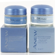Avon Anew Rejuvenate 30+ Early Signs Of Ageing - Revitalising DAY & NIGHT Creams 15ml Jar of Each