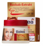 Balea Age-Repair Day-Cream Baobab & Elastonyl for Mature Skin -No Animal Testing - 50ml