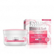 "HYALURONIC ACID Q10 + Argan Oil, ""Fresh & Soft"" Range of Nourishing, Moisturising Creams from Eveline - DAY & NIGHT Cream"