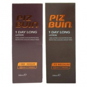 Piz Buin 1 Day Long Duo Sun Lotion Spf 30 & Spf 15 - 100Ml Each = 200 Ml