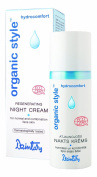 """""""Organic Style Hydrocomfort"""" Regenerating Night Cream (50 ml) for normal and combination face skin."""