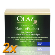 2x Olay Night Cream Anti-Wrinkle Nature Fusion 50 ml