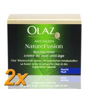 2x Olay Night Cream Anti-Wrinkle Nature Fusion 50 ml