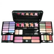Travel Cosmetic 53 Piece Beauty Palette Train Box Make Up Gift Set Kit