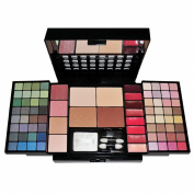 Travel Cosmetic 86 Piece Beauty Palette Train Box Make Up Gift Set Kit