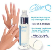 *NEW* Cleo Organic Hand Repair Creme with Aloe Vera, Collagen & Jojoba Oil - 30g