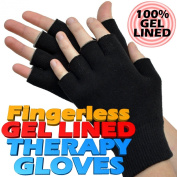 Gel Lined Hand Protection Therapy Gloves - (ONE PAIR) Soothe your hurting hands and fingers with Gel protection from everyday bumps, knocks and scrapes.