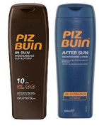 Piz Buin In Sun Lotion Spf 10  200Ml  & Tan Intensifier Aftersun 200Ml