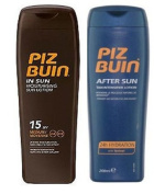 Piz Buin In Sun Lotion Spf 15  200Ml  & Tan Intensifier Aftersun 200Ml