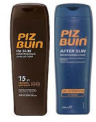 Piz Buin In Sun Lotion Spf 15  200Ml  & Tan Intensifier Aftersun 200Ml