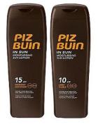Piz Buin In Sun Lotion Spf15 + Spf10 - 200Ml Each