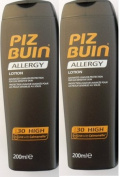 Piz Buin Allergy Sun Lotion Spf 30 (2 Pack) 2 X 200Ml Each Prevent Prickly Heat