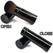 RETRACTABLE Sable Hair Kabuki Mineral Powder Brush CODE