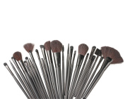 24pcs Professional Makeup Brush tool Cosmetic Brushes kit+ Roll Up Case