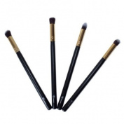 Gold 4 Pieces Face Synthetic Brush Set From Royal Care Cosmetics