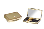 Danielle 5 Piece Compact Brush Set with. Crystals Gold
