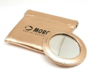 Morgan Metallic Gold Pocket Mirror and Pouch