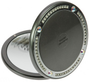 Fantasia Compact Mirror Round Mother-of-Pearl Black 10 x Magnification. Elements 10.5 cm