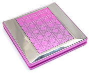 The Olivia Collection Pink Square Double Compact Mirror