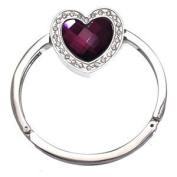 FEMME Silver Amethyst Heart Handbag Hook / Bracelet