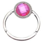 FEMME Silver Pink Round Handbag Hook / Bracelet