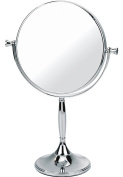 Chrome Pedestal Mirror True Image x7 Magnfied 32cmx7.5cm