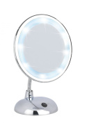 Wenko Style 3656440100 Standing Cosmetic Mirror 3x Magnifying Chrome