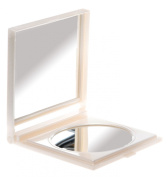 Danielle 17 x 14cm Folding Travel Mirror x 6 Magnified Pearl White